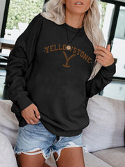 Woman's Printed Long Sleeve Sweatshirt & Top