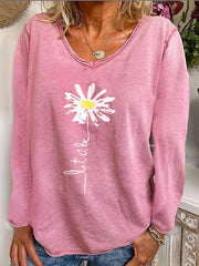 Pink cotton blend long sleeve shirts & Shirts & Blouses