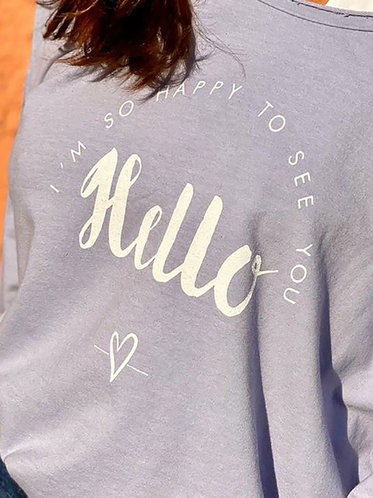 Letter Printed Long Sleeve Women T-shirts & Sweatshirts