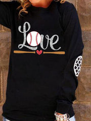 Woman'S Love Baseball Long Sleeve Pullover