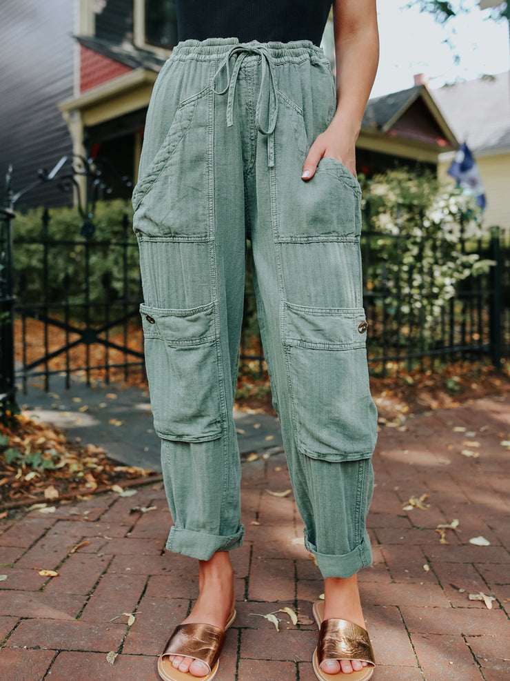 Women'S Loose Lightweight Pocket Pants