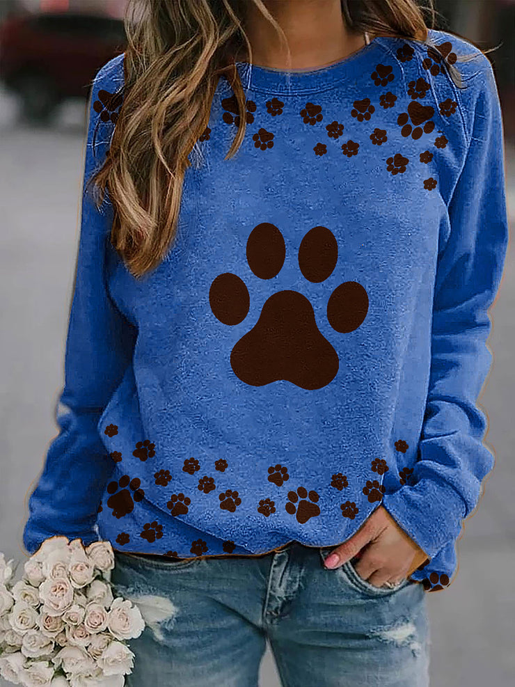 Printed Long Sleeve Women Sweatshirts