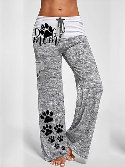 Paws Printed Pockets Women Pants & Trousers
