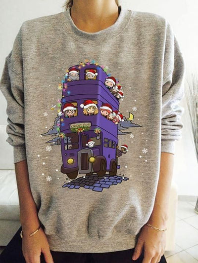 Knight Bus Harry Potter Characters Chibi Sweatshirt