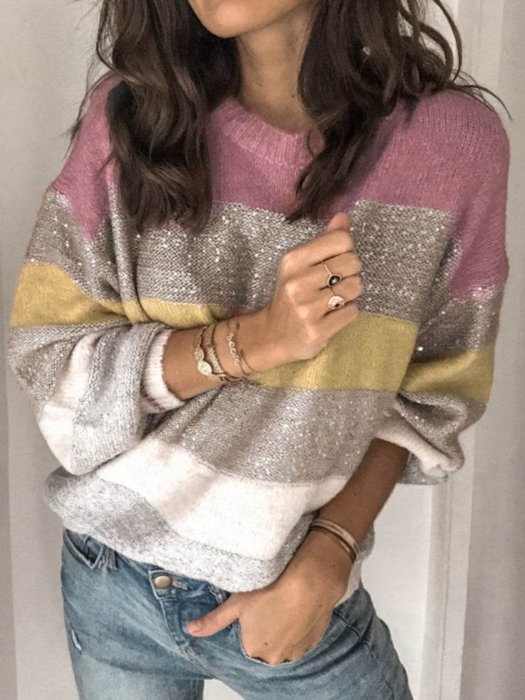 Women's Color-Block Casual Sweater