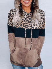 Leopard Printed Long Sleeve Women Hoodies