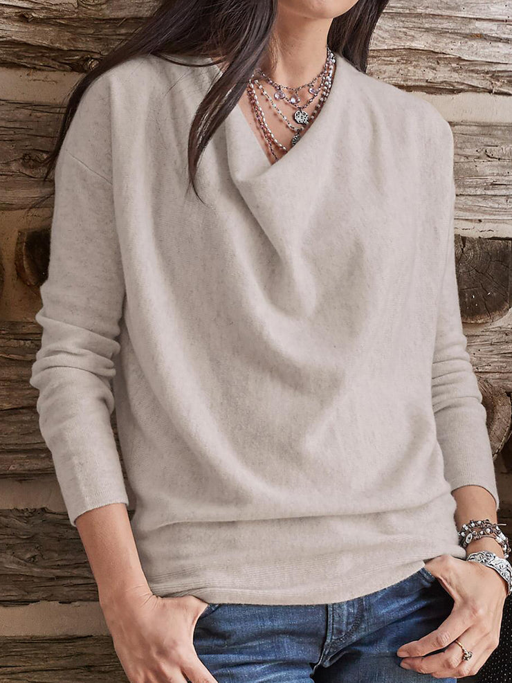 Solid Long Sleeve Women Tops