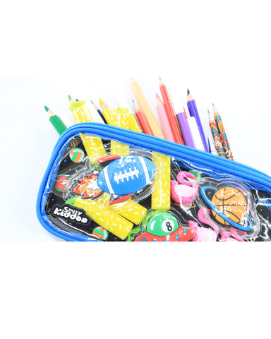 Image of Fancy Transparent Pencil Case Black