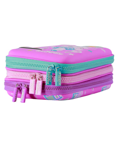 Image of Smily Hardtop Triple Up Pencil Case Pink