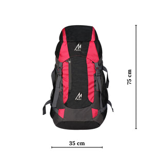 MIKE 65L Hiking Backpack- Pink and Black