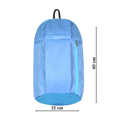 Casual Unisex Backpack Light Blue Color