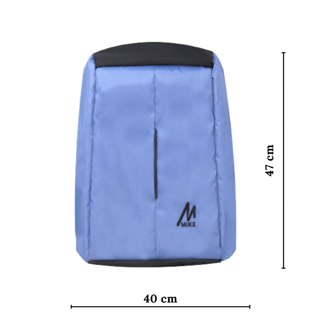 Mike Anti Theft Backpack - Light Blue