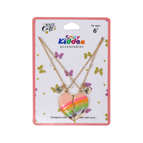 Image of Rainbow Heart Necklace