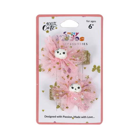 Image of Fancy Kitty Hair Clip Set -2