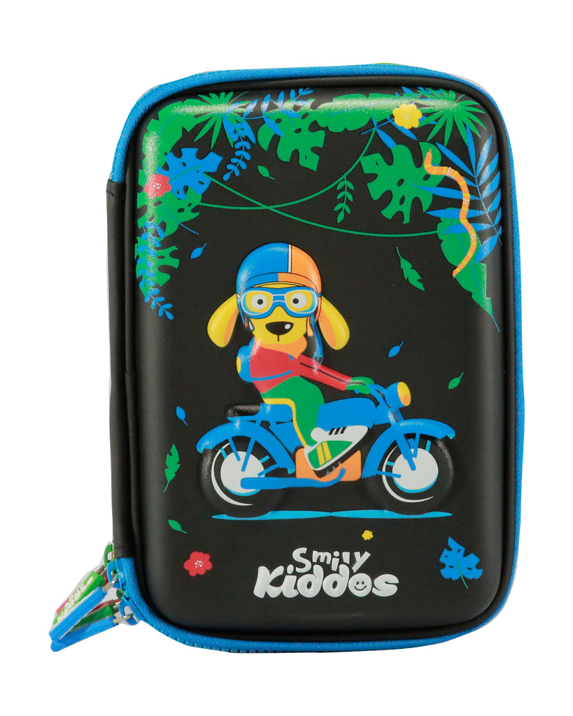 Smily Hardtop Triple Up Pencil Case Black