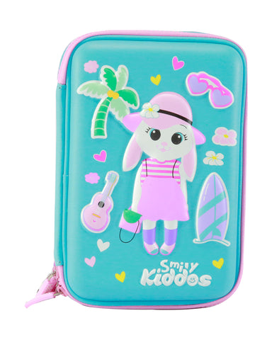 Image of Smily Hardtop Triple Up Pencil Case Light Blue