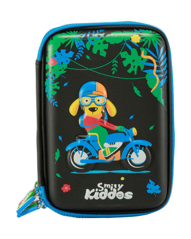 Image of Smily Hardtop Triple Up Pencil Case Black