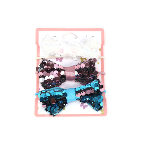 Image of Sequine Bow Hair Clip Set