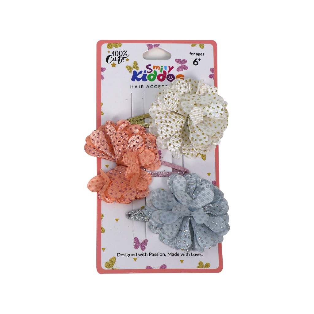 Fancy Floral Hair Clip Set