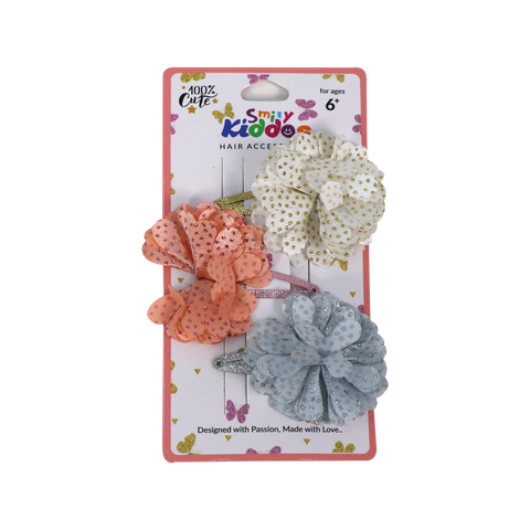 Image of Fancy Floral Hair Clip Set