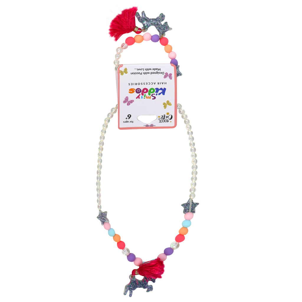 Starlight Unicorn Beads Necklace