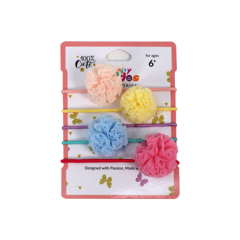 Image of Multicolor Fancy Hair Tie Set