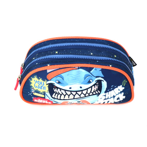 Sea Shark Double Compartment Pencil Pouch