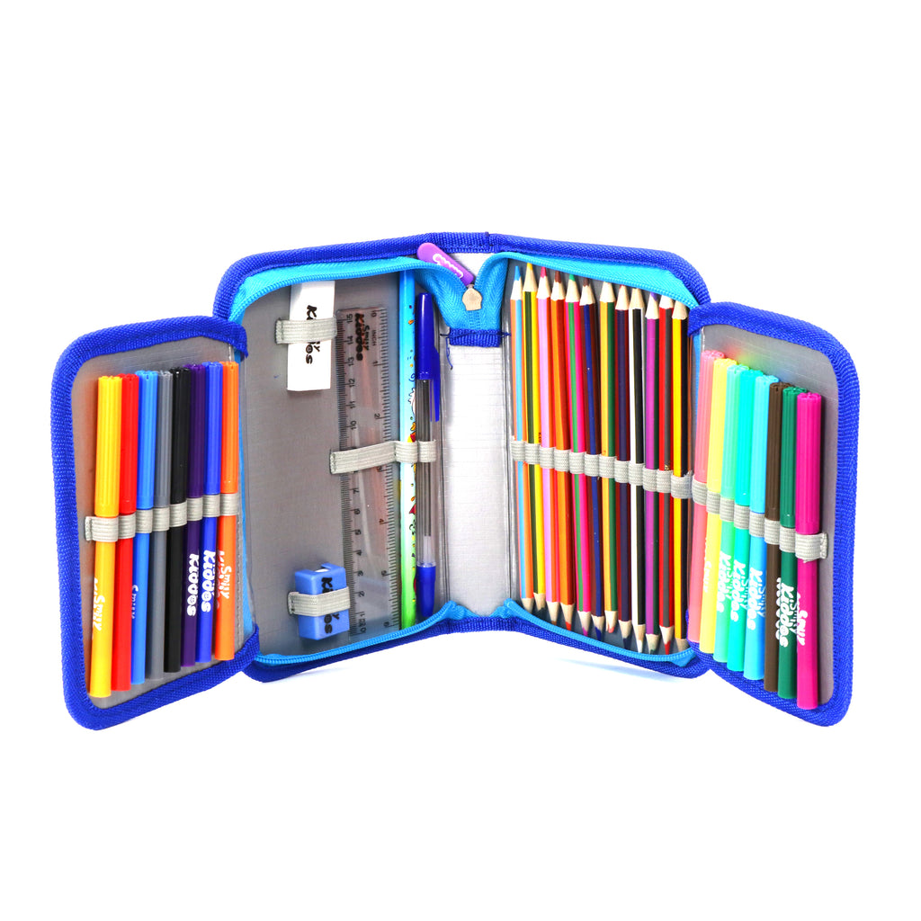 Smily Stationery Case Cricket Theme (Stationery Included)