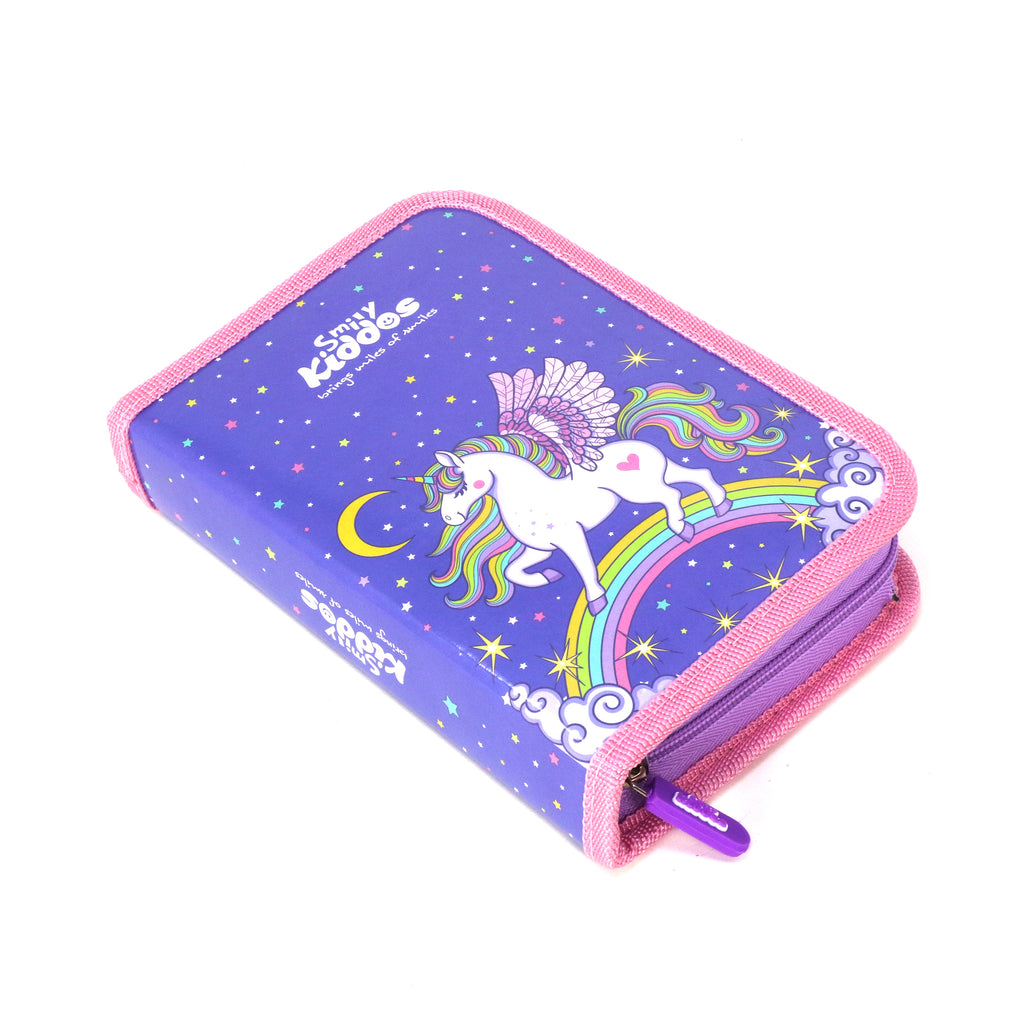 Smily Stationery Case Unicorn Theme (Stationery Included)