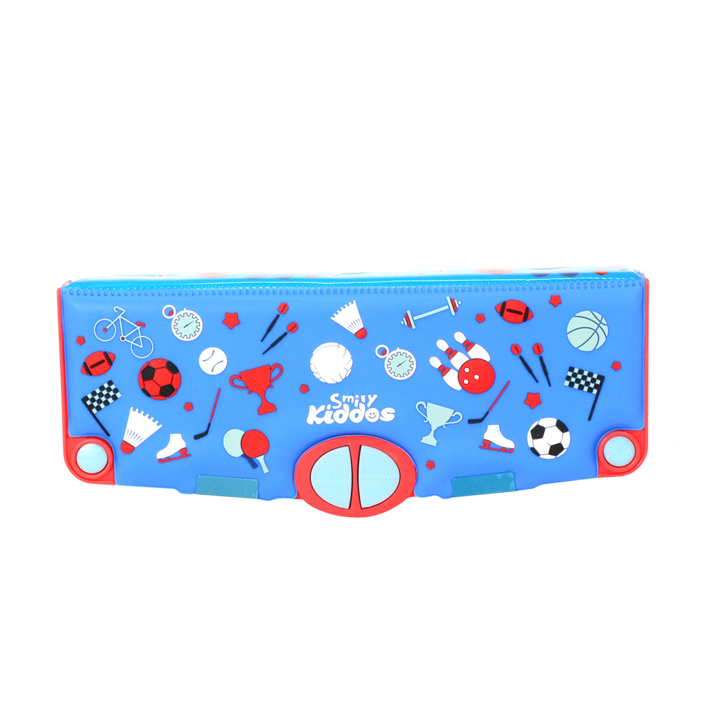 Smily Pop Out Pencil Box-Sports Theme
