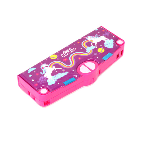 Smily Pop Out Pencil Box-Rainbow Unicorn Theme