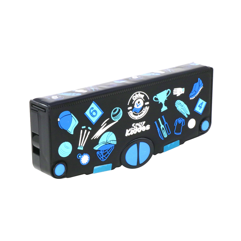 Smily Pop Out Pencil Box- Cricket Theme