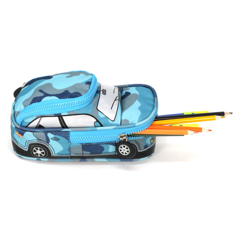Car Pencil Pouch - Blue