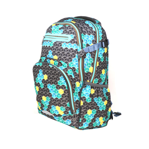 Image of Smily Teen backpack Black & Future Green
