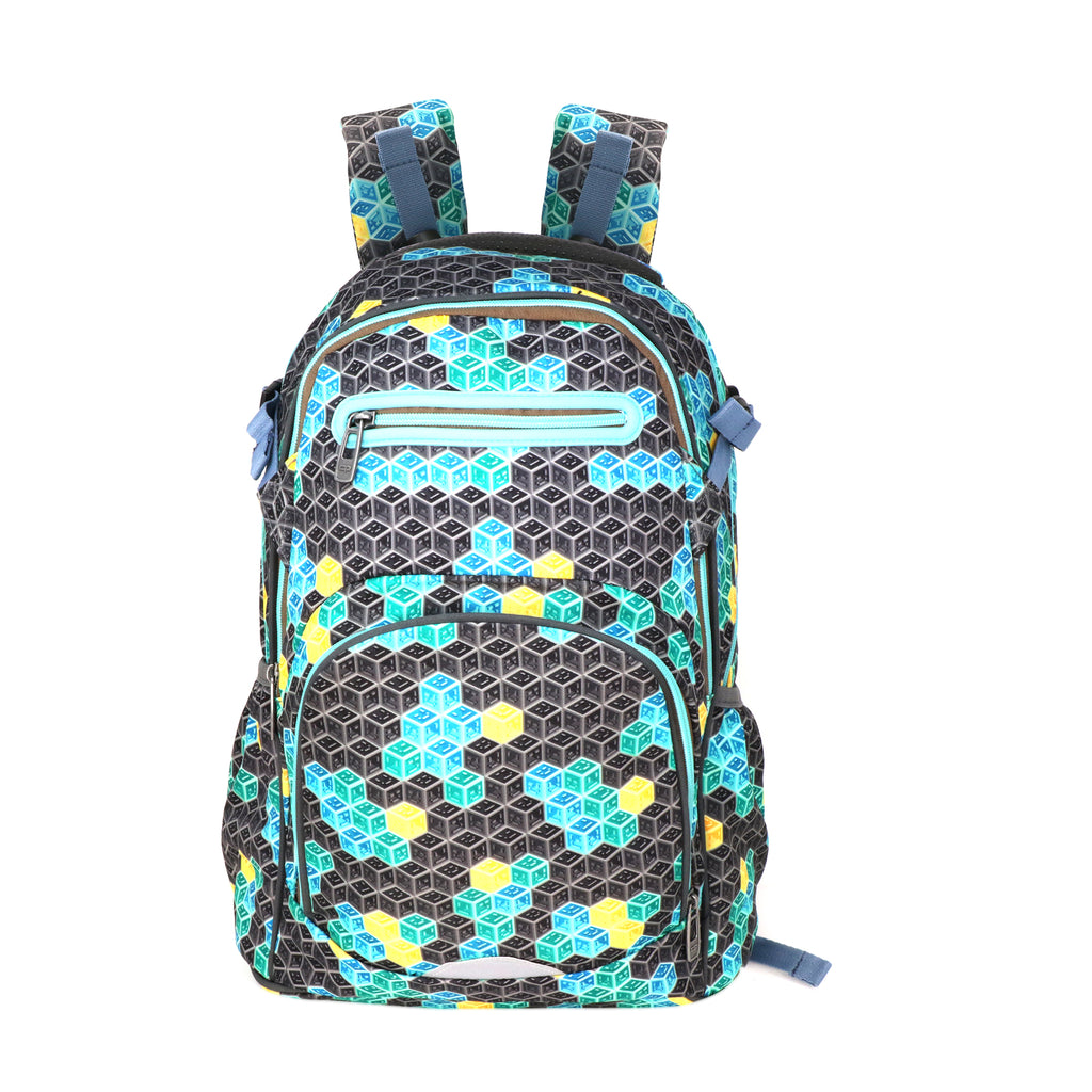 Smily Teen backpack Black & Future Green