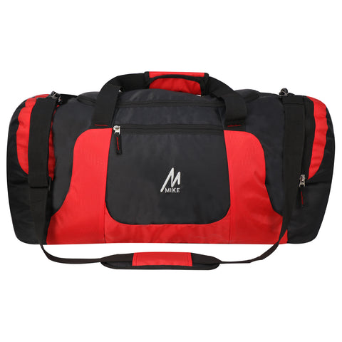 Mike Weekender Duffel Bag - Red & Black