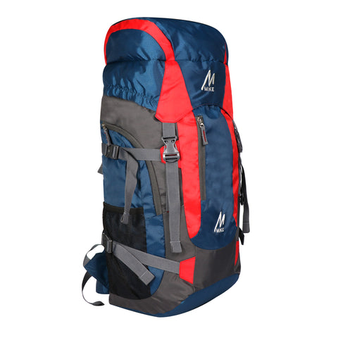 Image of MIKE 65L Hiking Backpack-Red and Blue