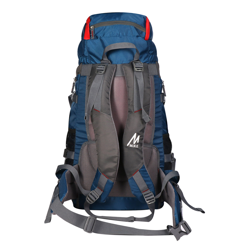 MIKE 65L Hiking Backpack-Red and Blue