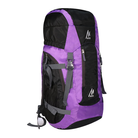 Image of MIKE 65L Hiking Backpack- Purple and Black