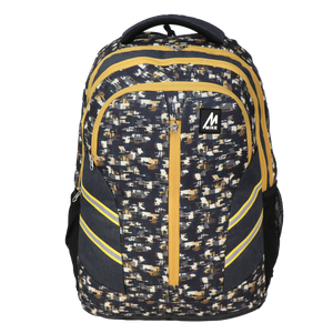 Mike Camo Laptop Backpack - Yellow & Grey