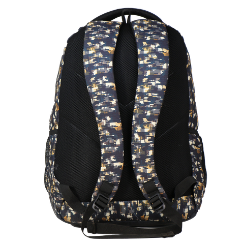 Image of Mike Camo Laptop Backpack - Yellow & Grey