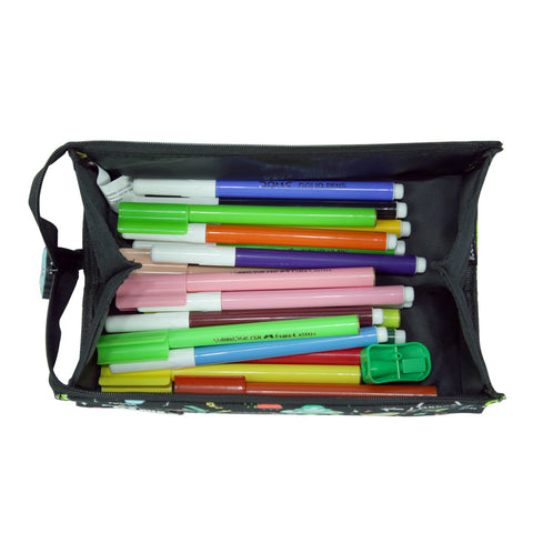 Image of Smily Tray Pencil Case Black