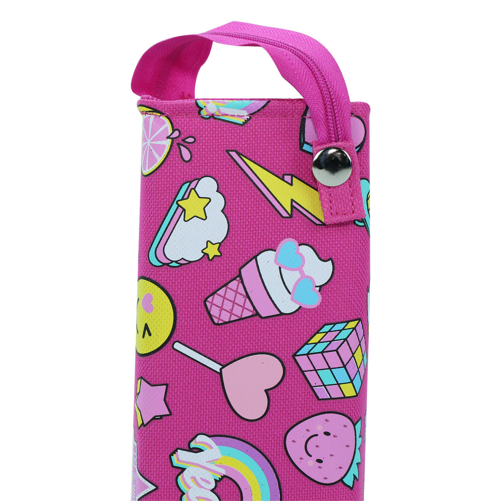 Smily Tray Pencil Case Fun Theme Pink