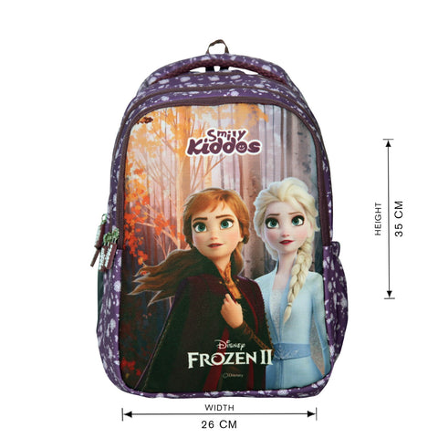 Licensed Frozen 2 Elsa & Anna Junior Backpack Purple