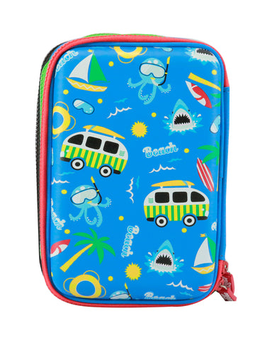 Image of Smily Hardtop Triple Up Pencil Case Blue