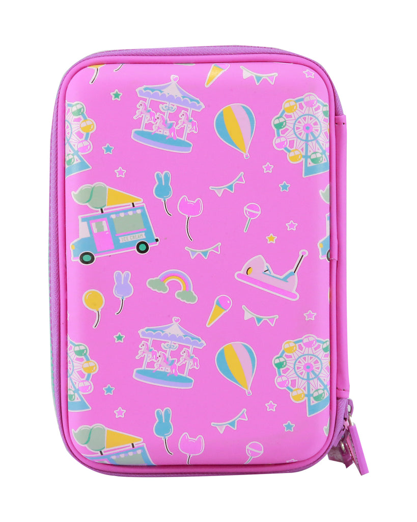 Smily Hardtop Triple Up Pencil Case Pink