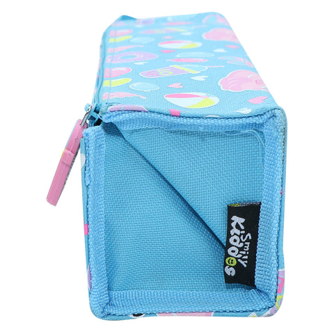 Image of Smily Tray Pencil Case Swan Theme Light Blue