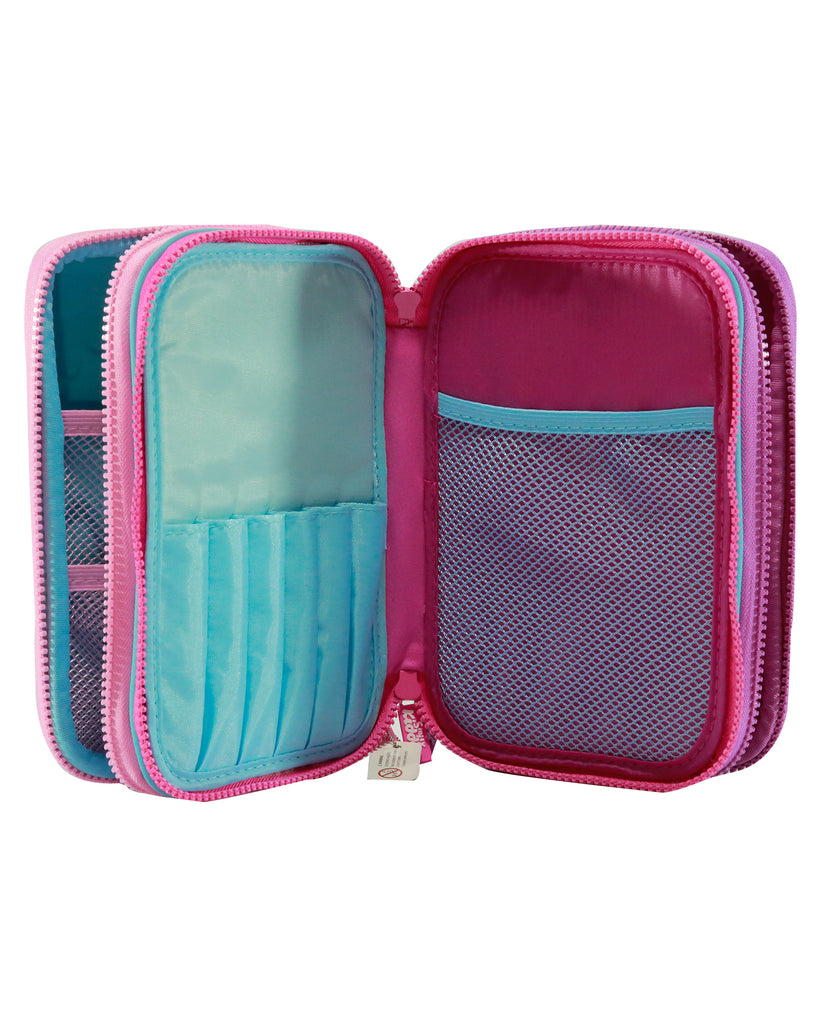 Smily Hardtop Triple Up Pencil Case Light Blue