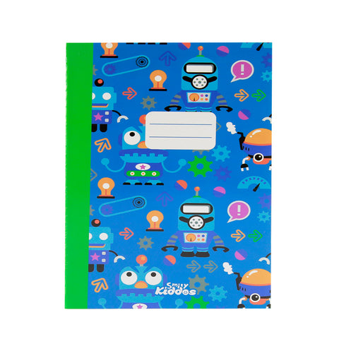 Smily A5 Lined Exercise Book Blue