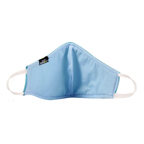 Image of PACK OF 20 REUSABLE COTTON MASK BLUE